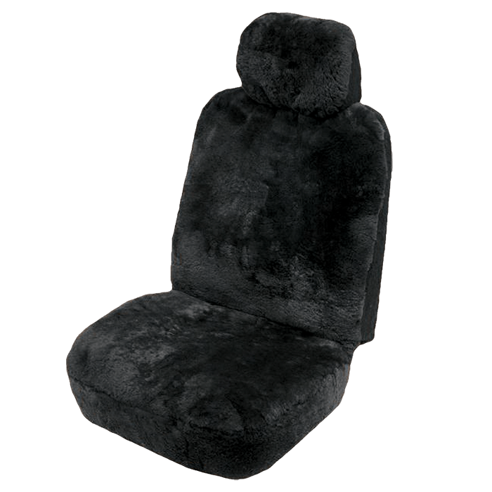 Sheepskin car sear covers - Black