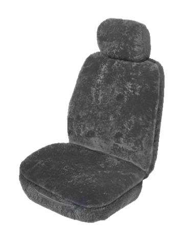 Sheepskin car sear covers - Charcoal