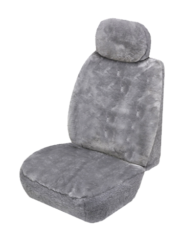Sheepskin car sear covers - Grey
